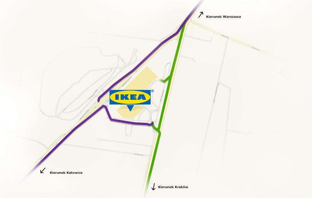 IKEA Janki: схема проезда