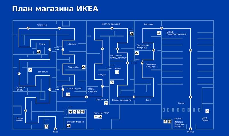 ИКЕА Казань: план магазина