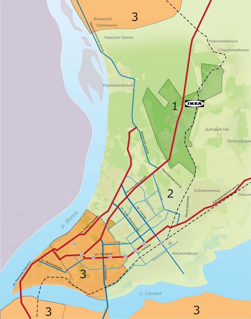 ИКЕА Самара: зоны доставки