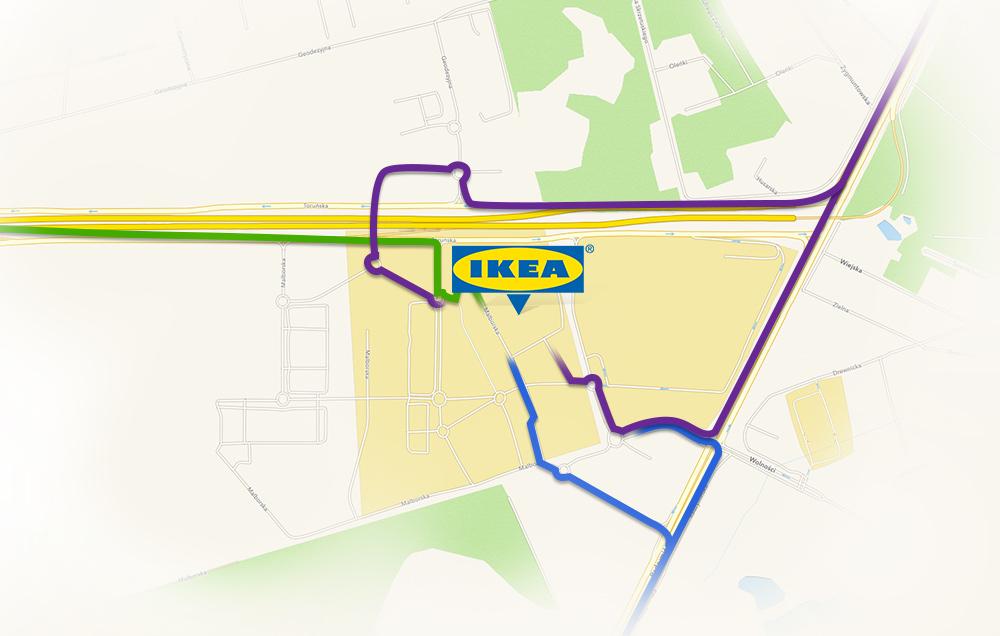 IKEA Targówek: схема проезда
