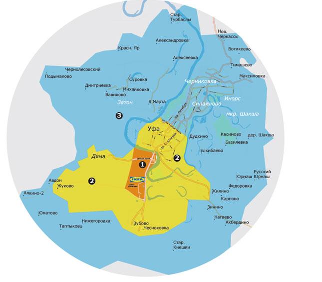 ИКЕА Уфа: зоны доставки