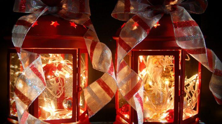 Как декорировать фонарик из ИКЕИ для Нового года