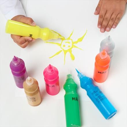 Флуоресцентная/блестящая краска Мола