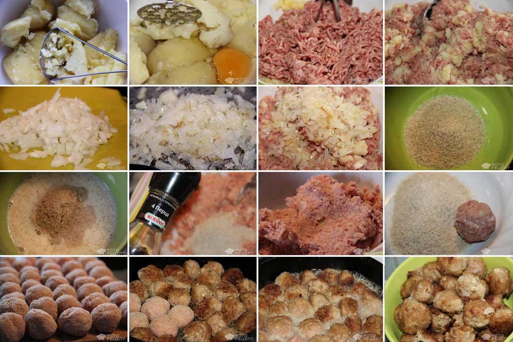 Пошаговый фото рецепт приготовления мясных фрикаделек как в ИКЕА