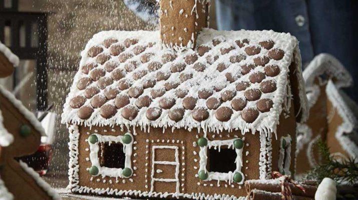Пряничный домик как в ИКЕА: как собрать, чем склеить, как украсить