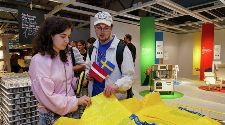 Открытие ИКЕА в Риге, Латвия